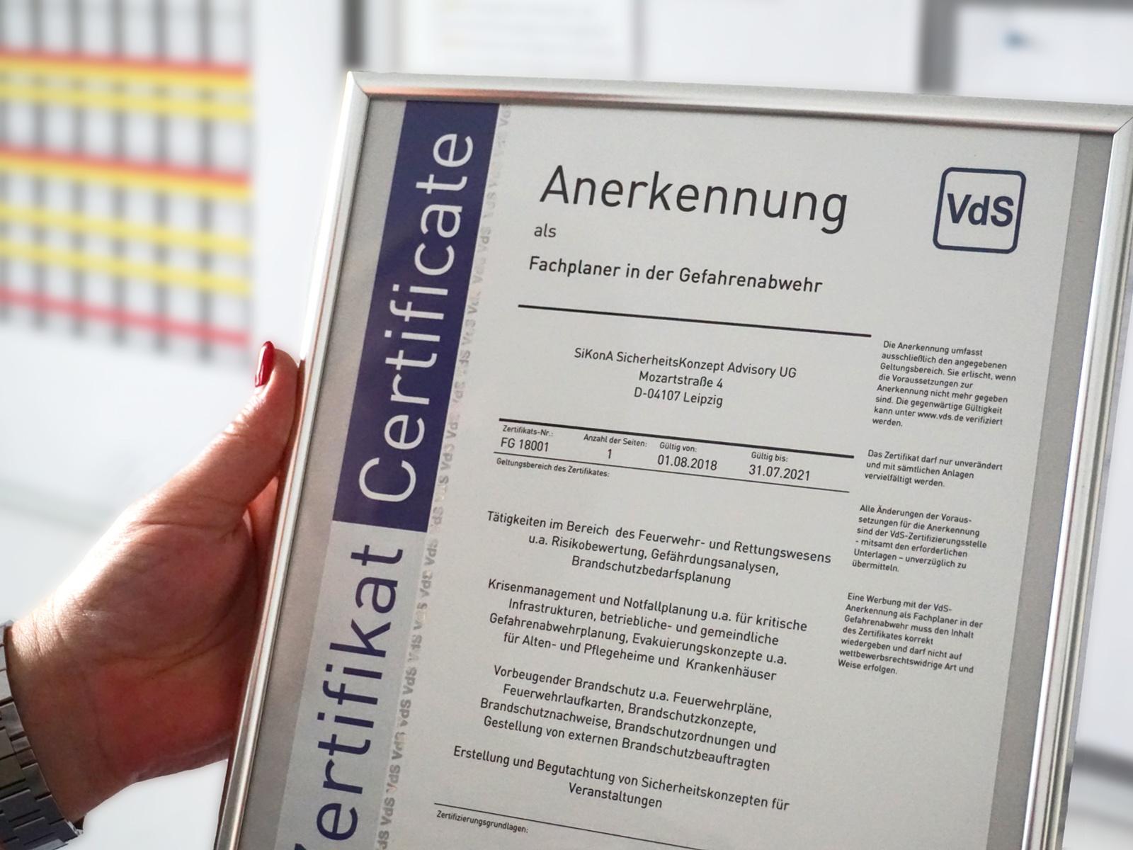VDS-Zertifikat
