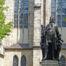 Statue von Johann Sebastian Bach vor der Thomaskirche Leipzig
